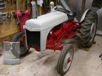 [Image Tractor with Hood Installed]