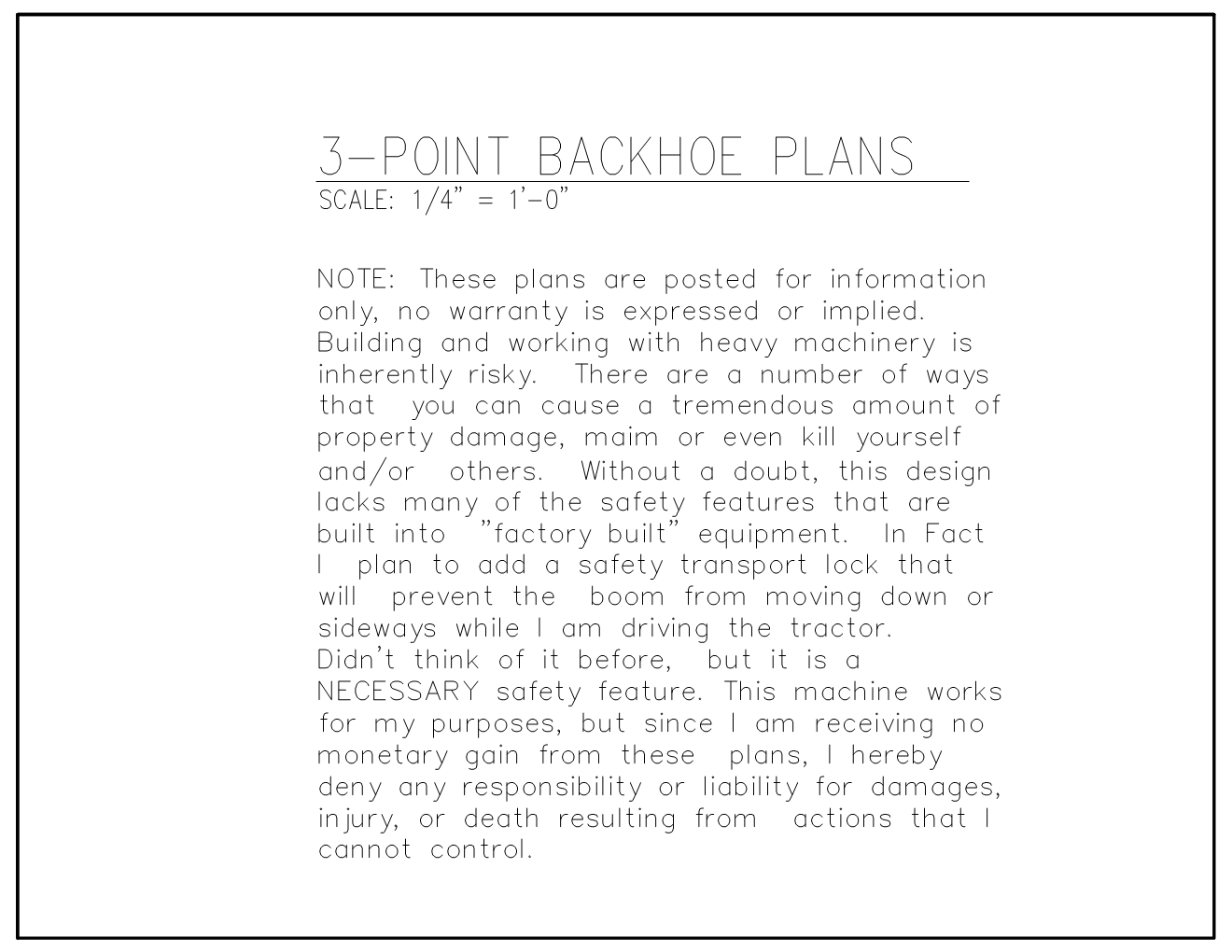 [Backhoe Plan No6]